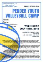 Pender Youth Volleyball Camp