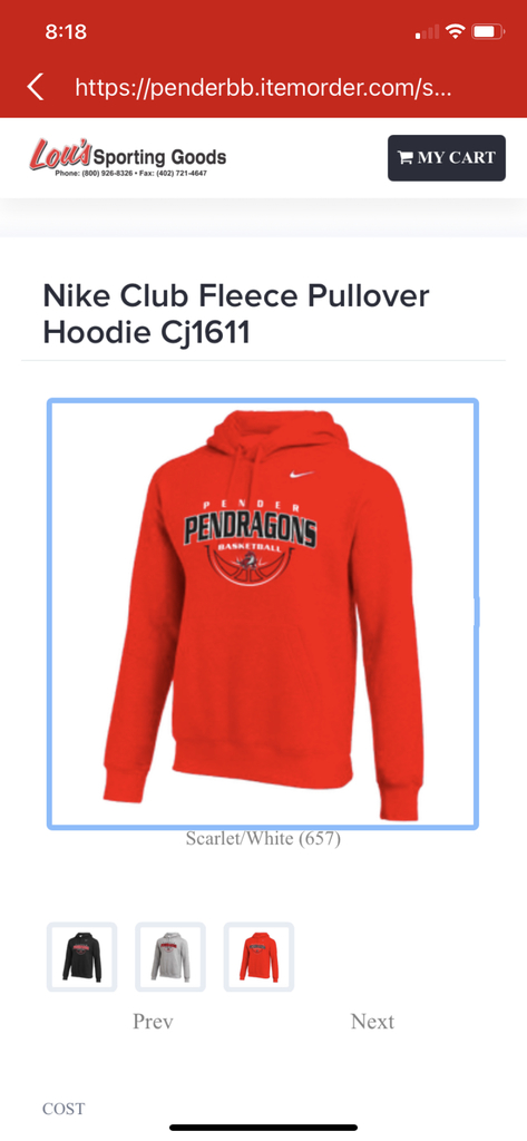 Pendragon Basketball Clothing.