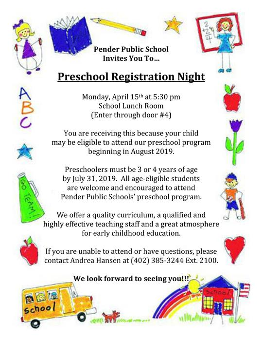 Preschool Registration Night