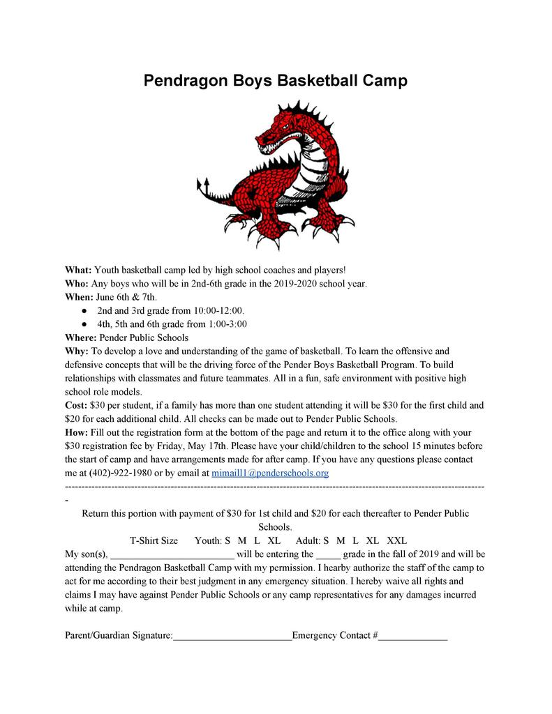 Pendragon Youth Basketball Camp