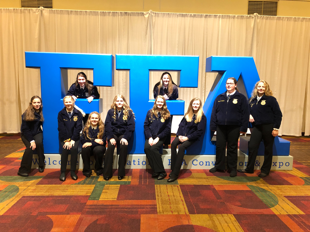 Ten members attended National FFA Convention this year #FFA19.