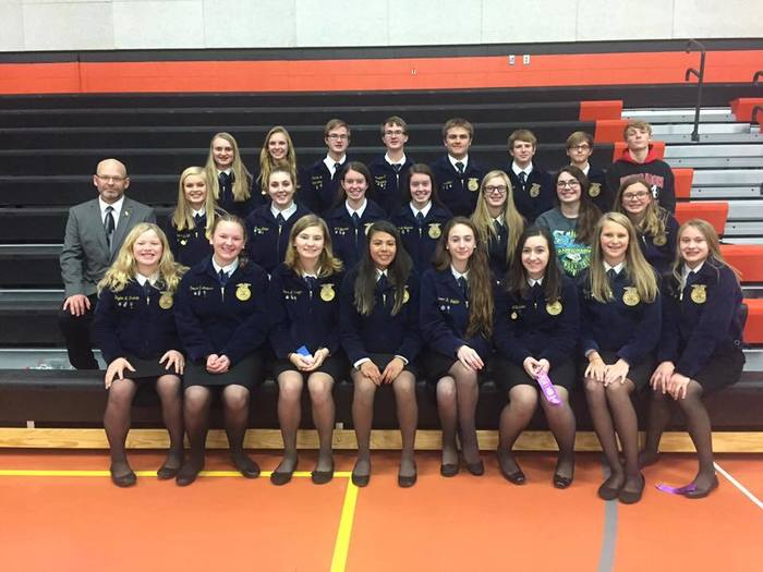 District FFA Competitors