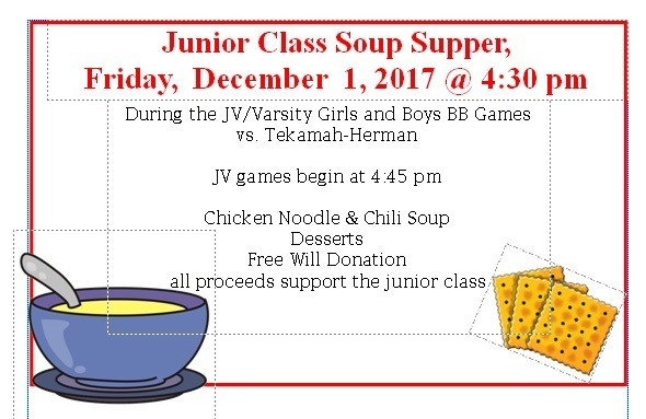 Jr. Class Soup Supper