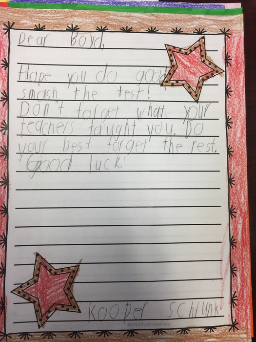 first grade letters
