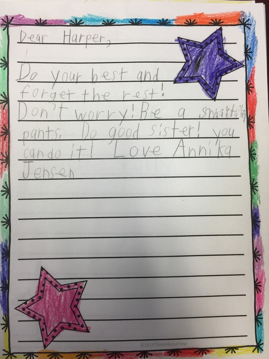 First grade letter